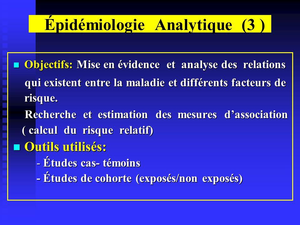 Épidémiologie Analytique (3 )