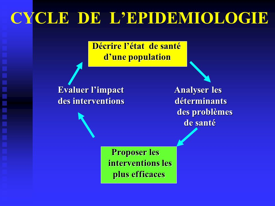 CYCLE DE L'EPIDEMIOLOGIE