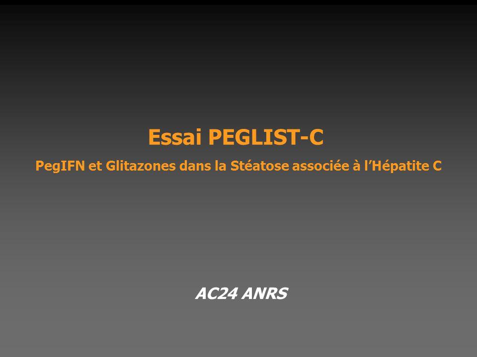 Essai PEGLIST-C PegIFN et Glitazones dans la Stéatose associée à l'Hépatite C