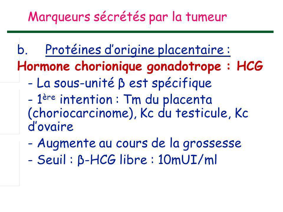 Marqueurs sécrétés par la tumeur b
