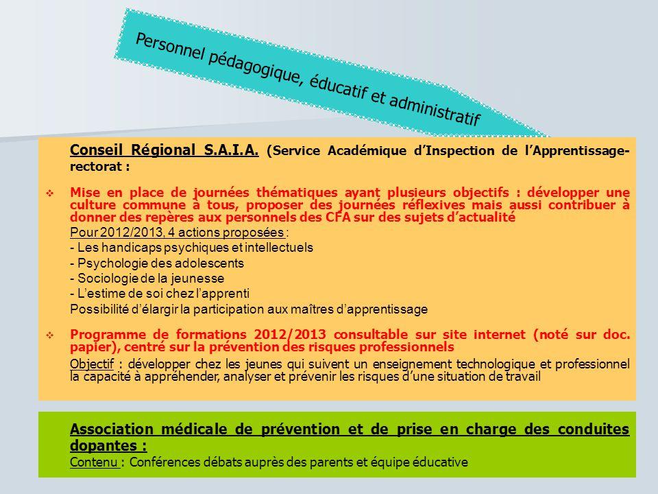 Personnel pédagogique, éducatif et administratif