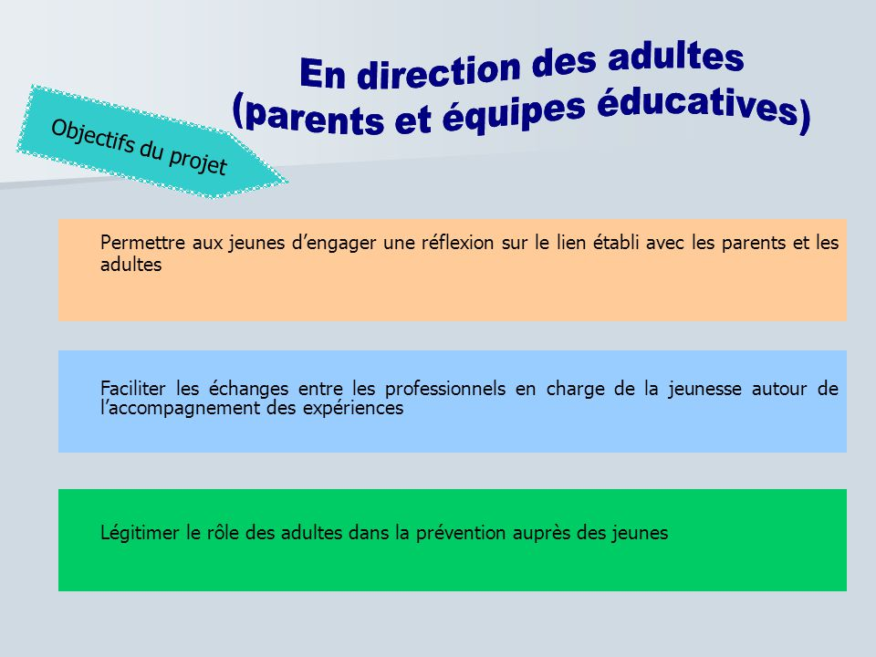 En direction des adultes
