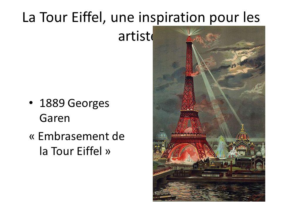 La Tour Eiffel, une inspiration pour les artistes