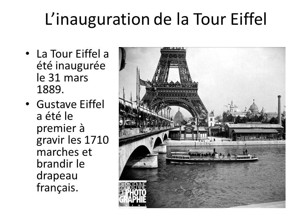 L'inauguration de la Tour Eiffel