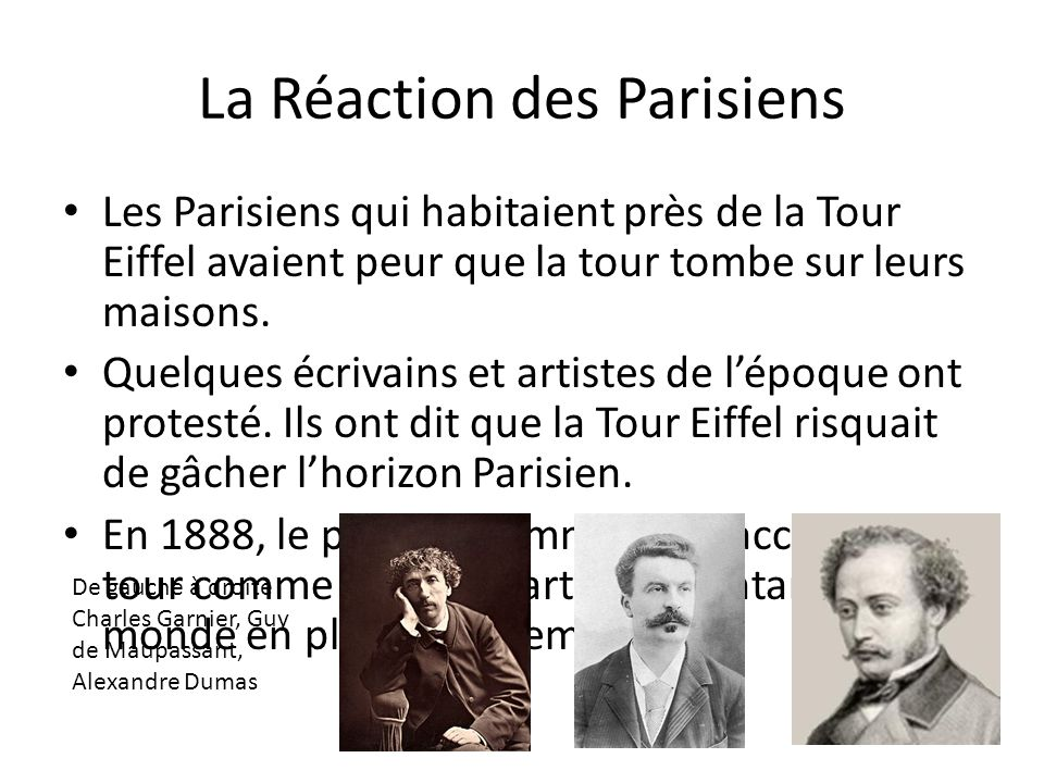 La Réaction des Parisiens