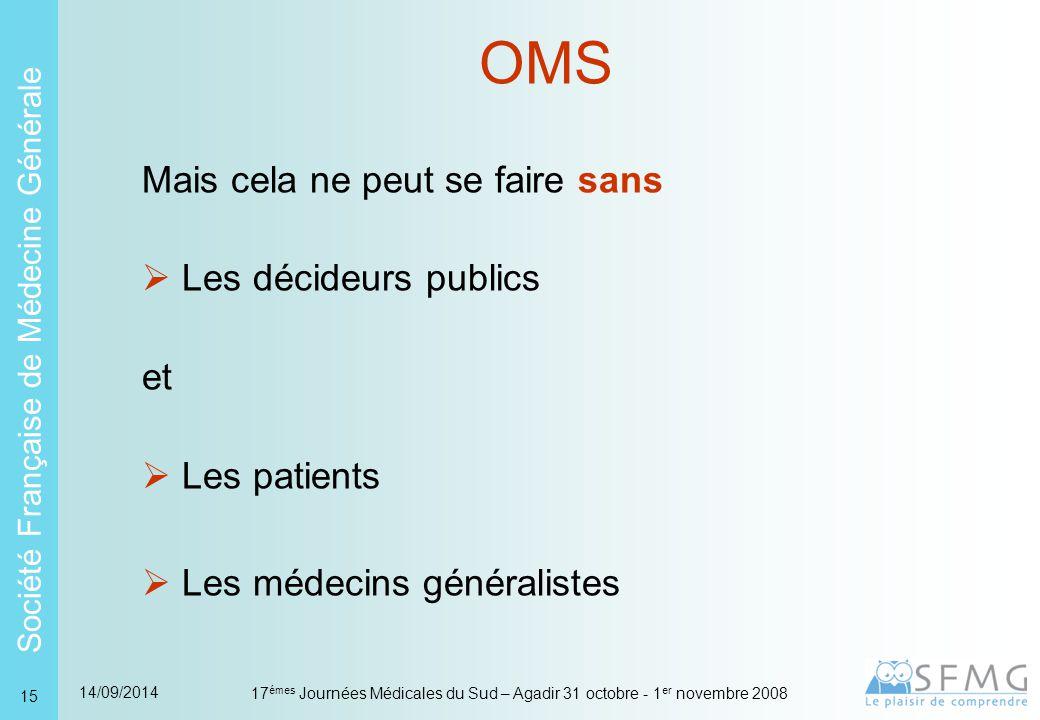 OMS Les conditions pour le développement de la médecine générale