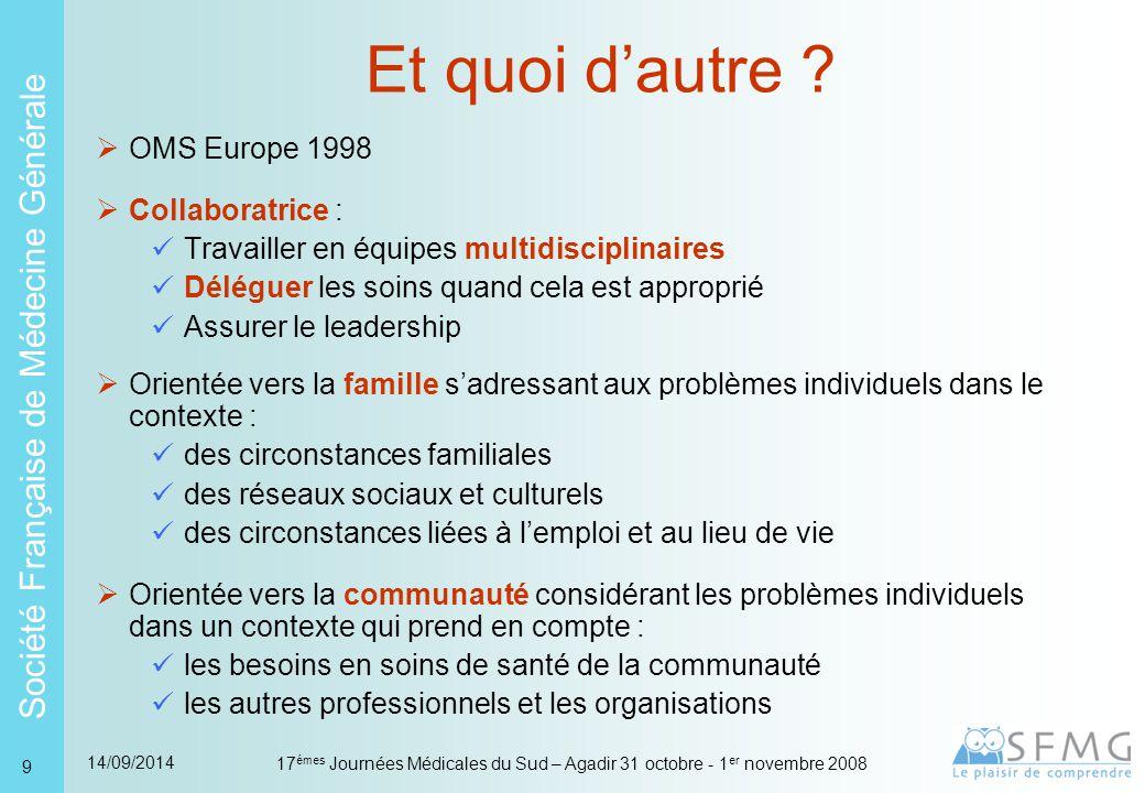Et quoi d'autre OMS Europe 1998