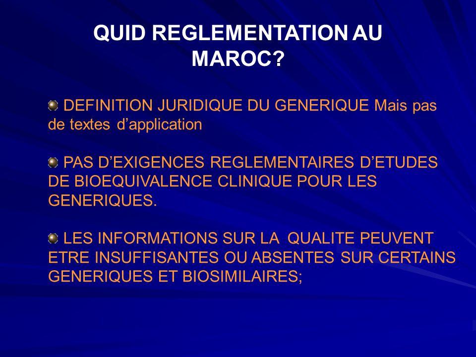QUID REGLEMENTATION AU MAROC