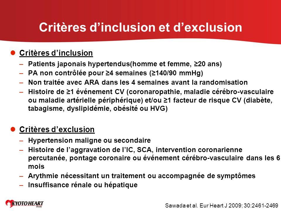 Critères d'inclusion et d'exclusion