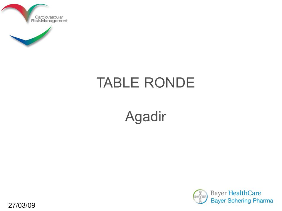 TABLE RONDE Agadir 27/03/09