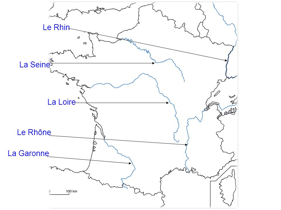 Le Rhin La Seine La Loire Le Rhône La Garonne