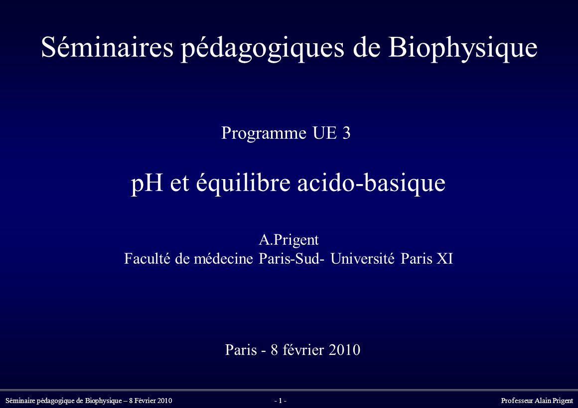 Séminaires pédagogiques de Biophysique