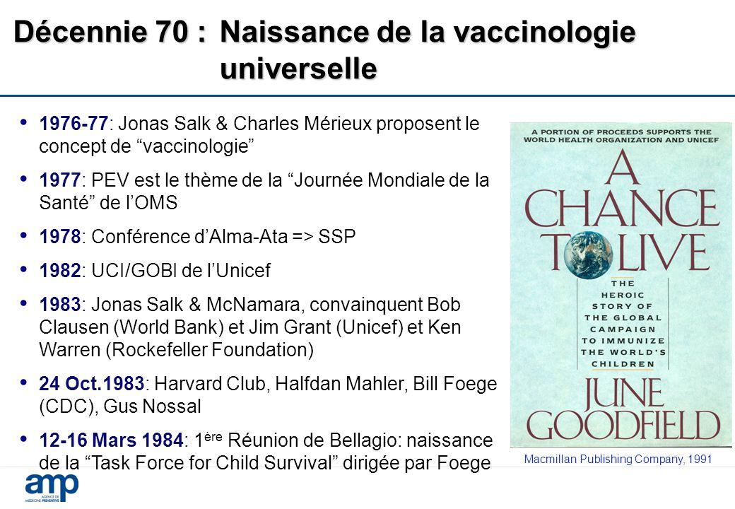 Décennie 70 : Naissance de la vaccinologie universelle