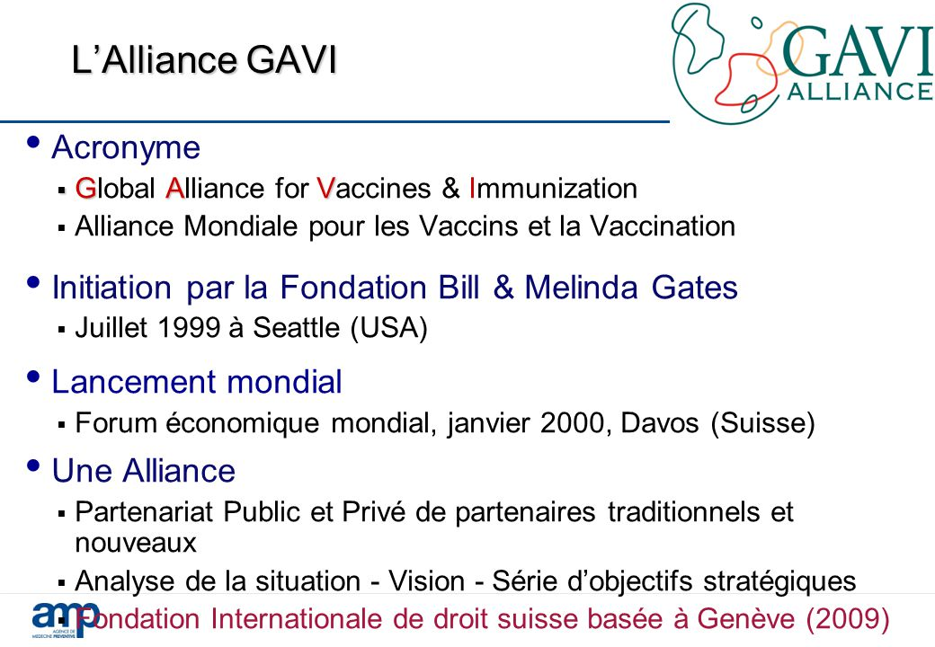 L'Alliance GAVI Acronyme
