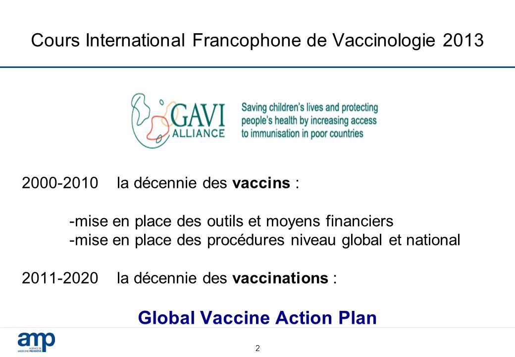 Cours International Francophone de Vaccinologie 2013