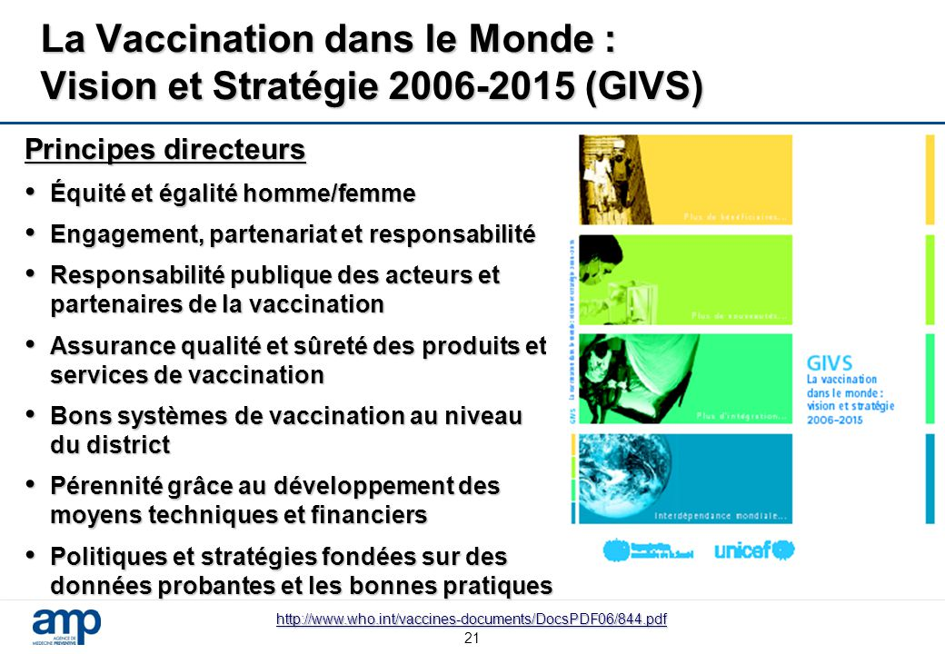 La Vaccination dans le Monde : Vision et Stratégie 2006-2015 (GIVS)
