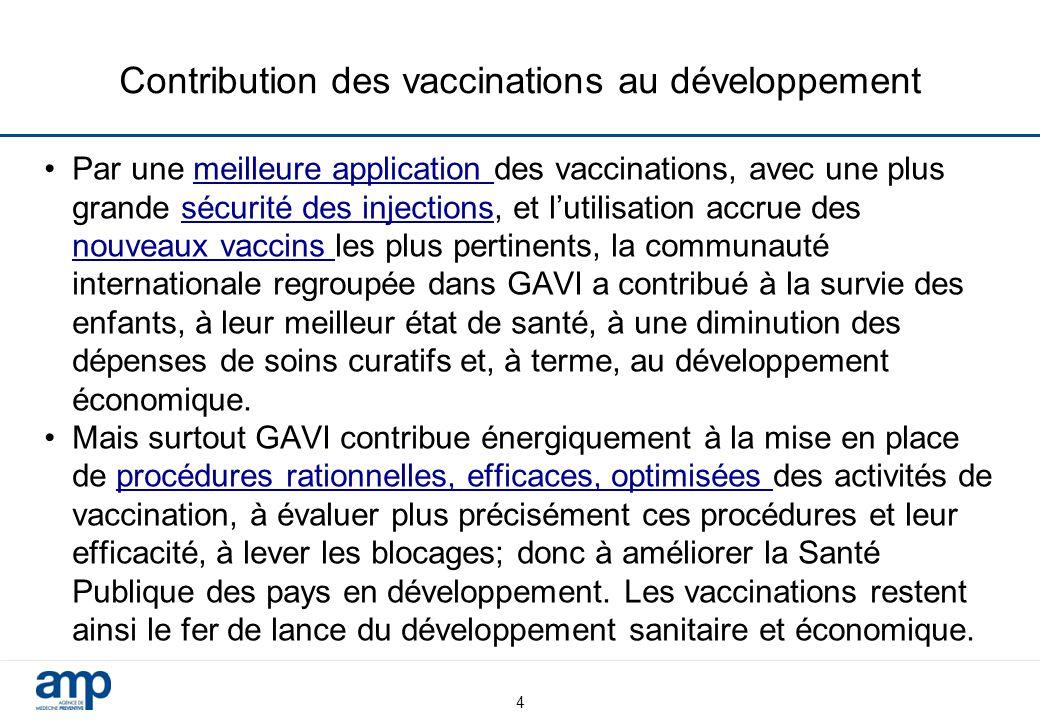 Contribution des vaccinations au développement