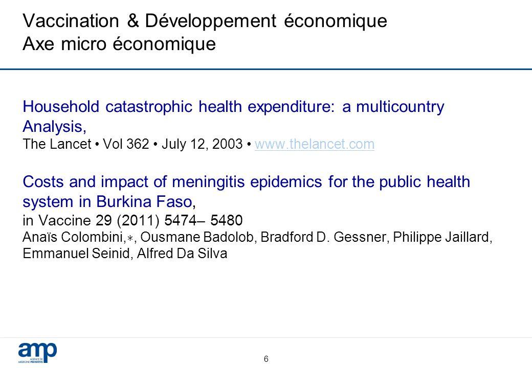 Vaccination & Développement économique Axe micro économique