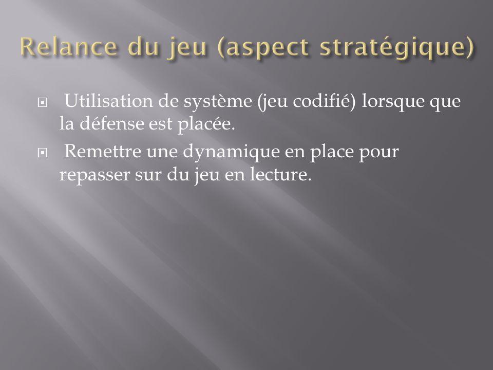 Relance du jeu (aspect stratégique)
