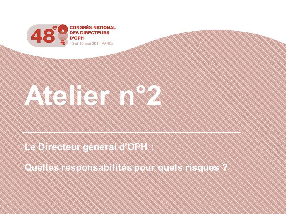 Atelier n°2 Le Directeur général d'OPH :