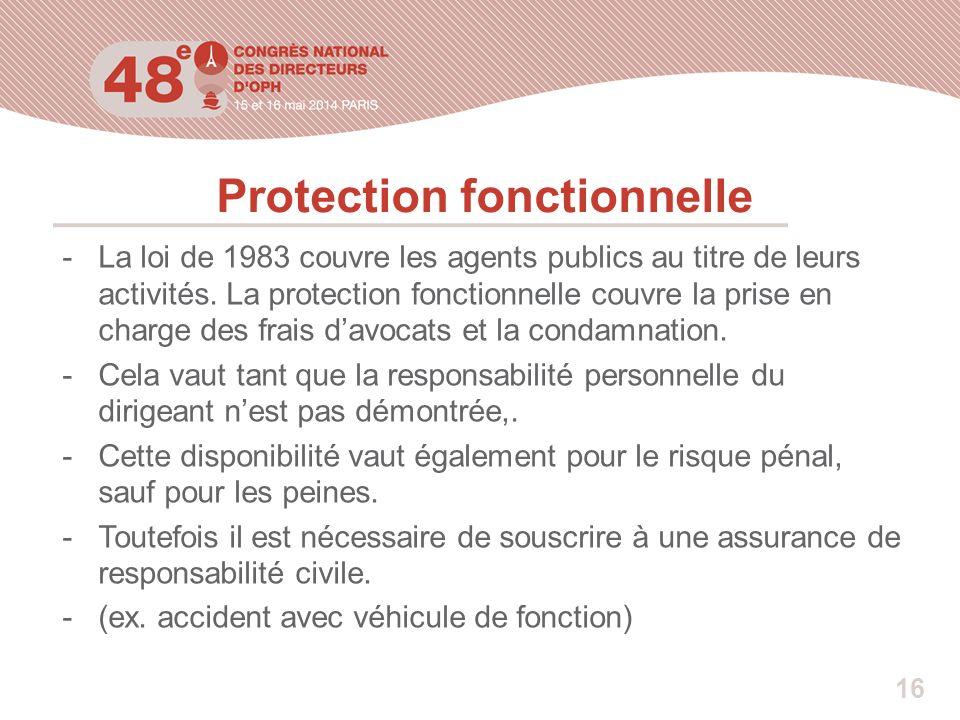 Protection fonctionnelle