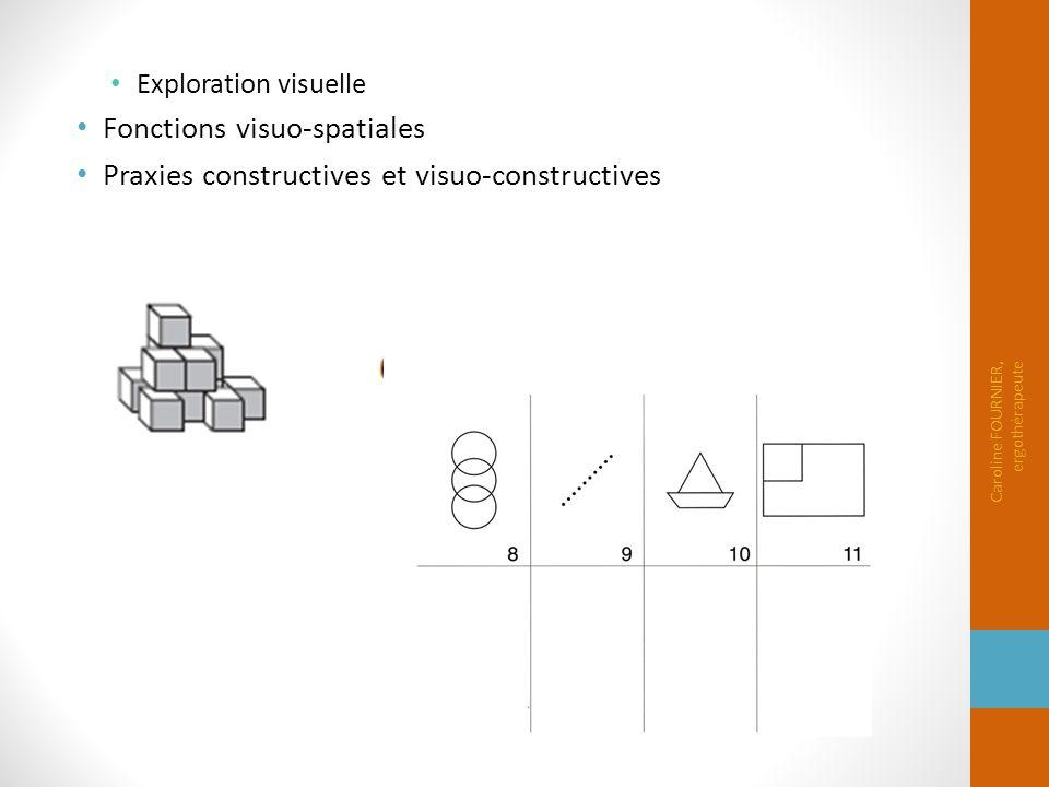 Fonctions visuo-spatiales Praxies constructives et visuo-constructives