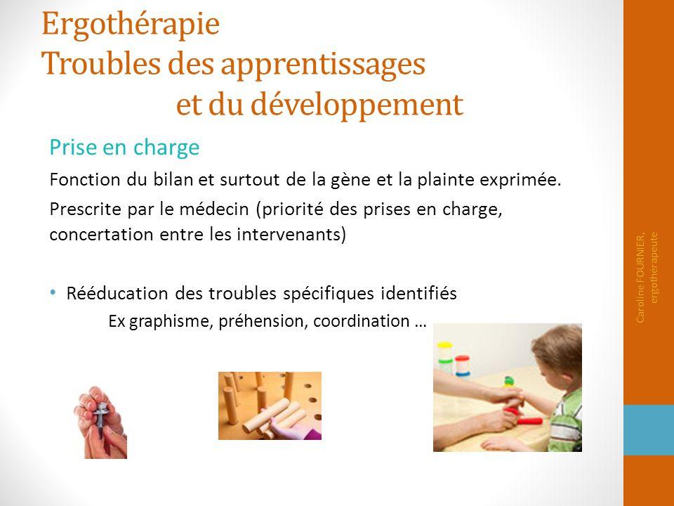 Ergothérapie Troubles des apprentissages et du développement