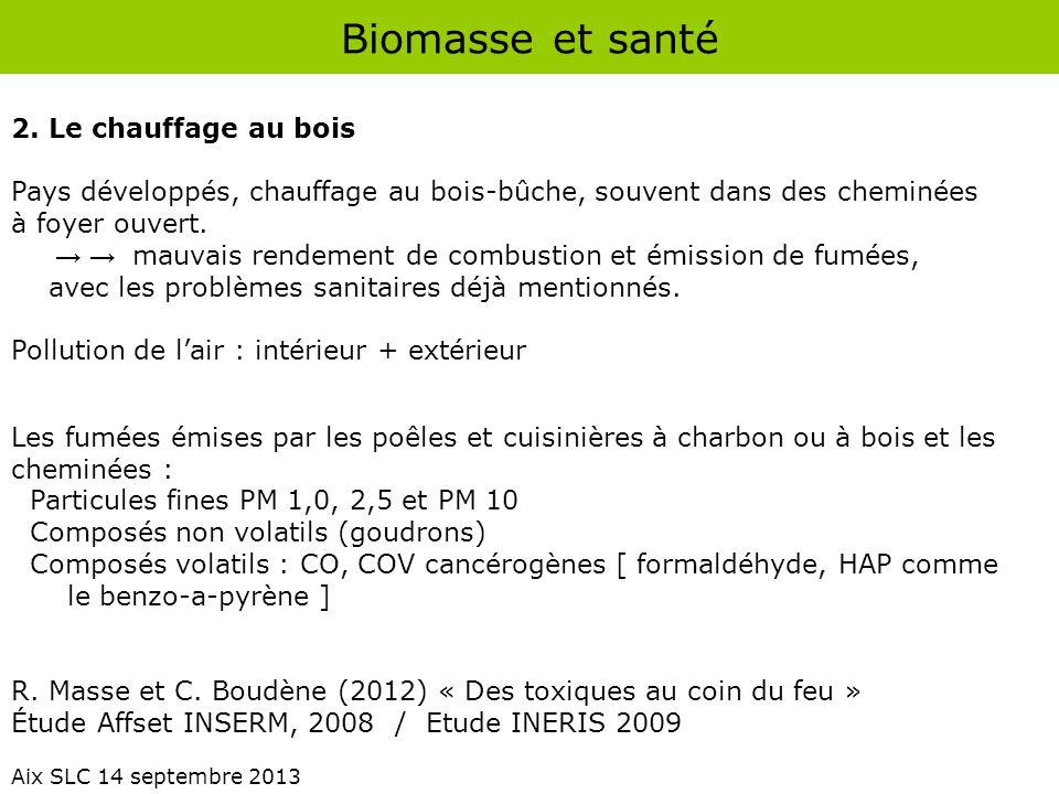 Biomasse et santé 2. Le chauffage au bois
