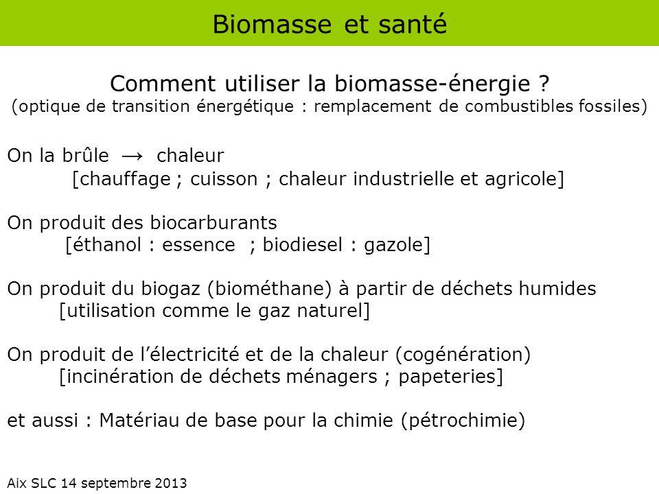 Comment utiliser la biomasse-énergie