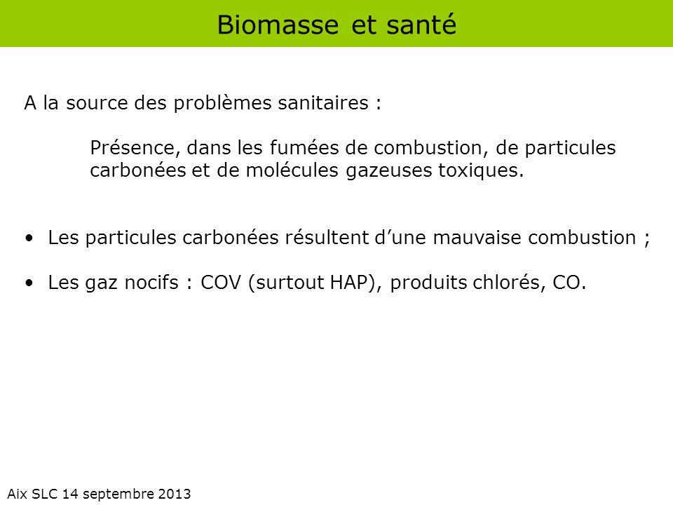 Biomasse et santé A la source des problèmes sanitaires :