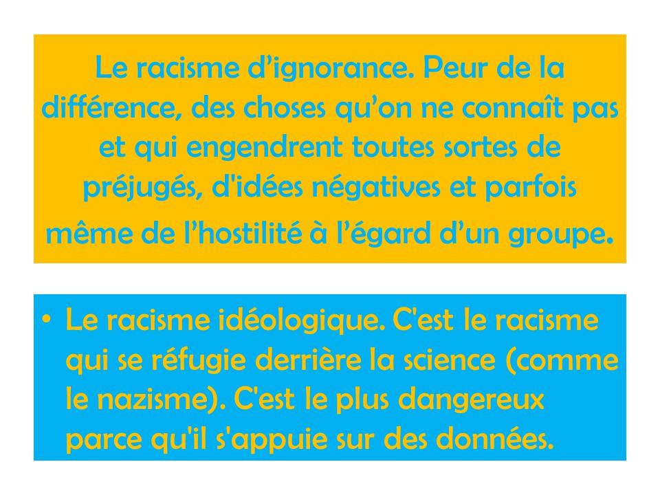 Le racisme d'ignorance