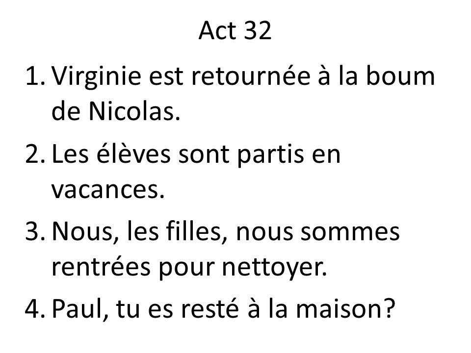 Virginie est retournée à la boum de Nicolas.
