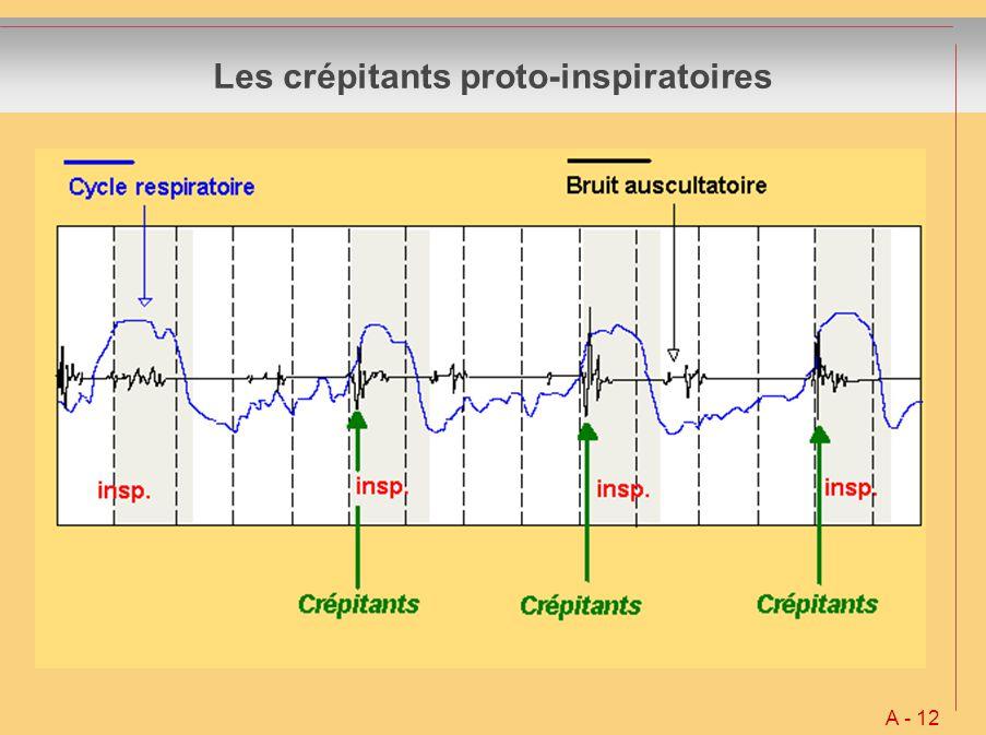 Les crépitants proto-inspiratoires