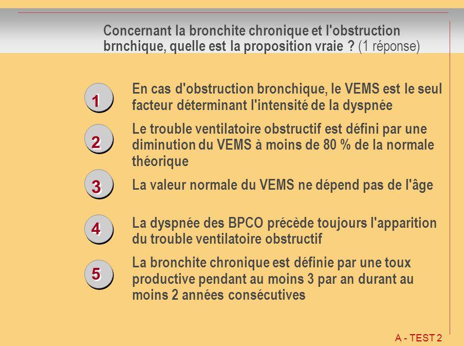 Concernant la bronchite chronique et l obstruction brnchique, quelle est la proposition vraie (1 réponse)