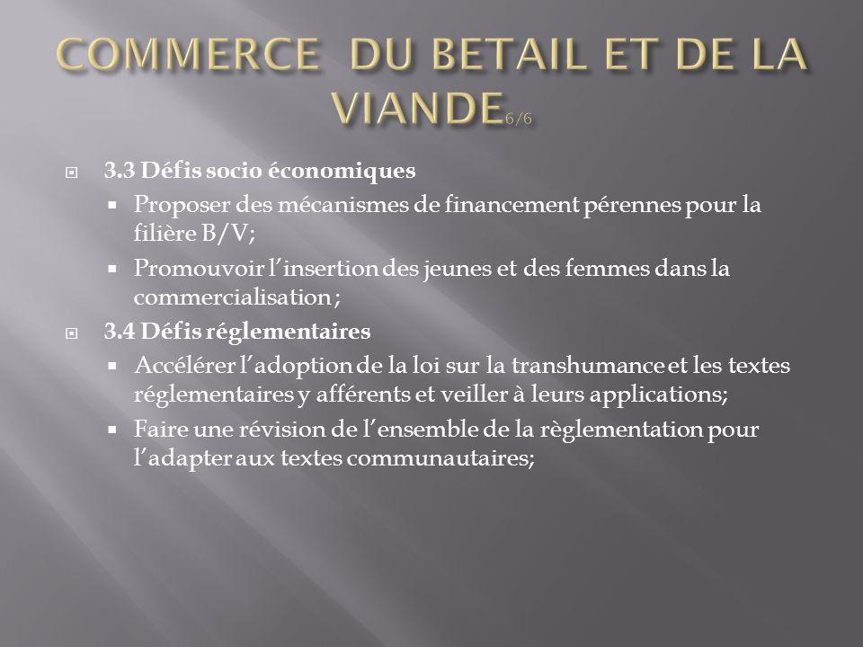 COMMERCE DU BETAIL ET DE LA VIANDE6/6
