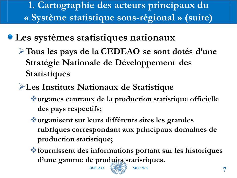 Les systèmes statistiques nationaux