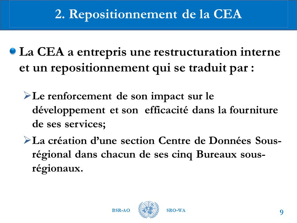 2. Repositionnement de la CEA