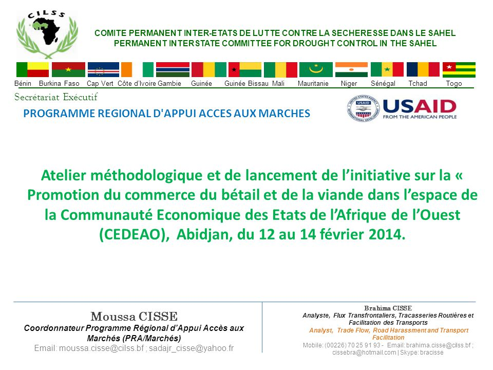 PERMANENT INTERSTATE COMMITTEE FOR DROUGHT CONTROL IN THE SAHEL
