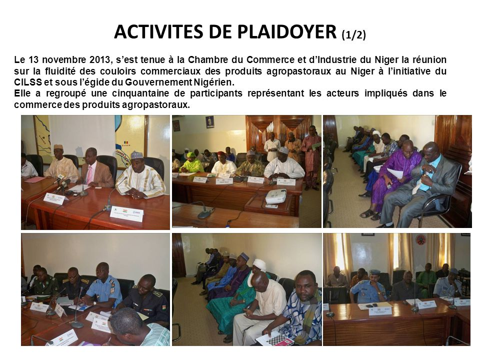 ACTIVITES DE PLAIDOYER (1/2)