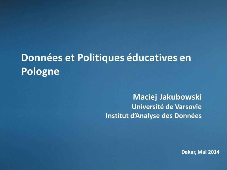 Données et Politiques éducatives en Pologne