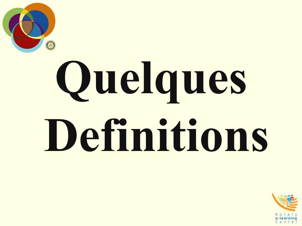 Quelques Definitions