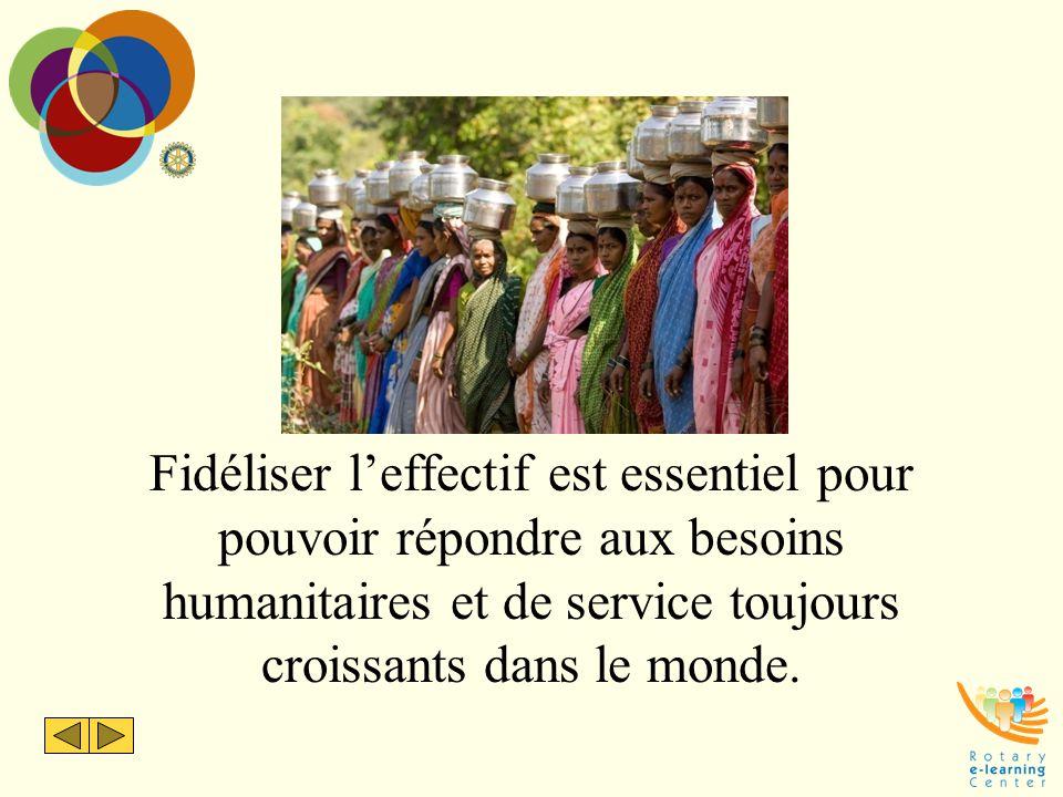 Fidéliser l'effectif est essentiel pour pouvoir répondre aux besoins humanitaires et de service toujours croissants dans le monde.