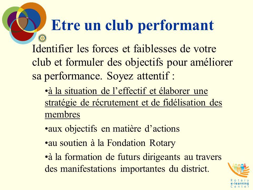 Etre un club performant