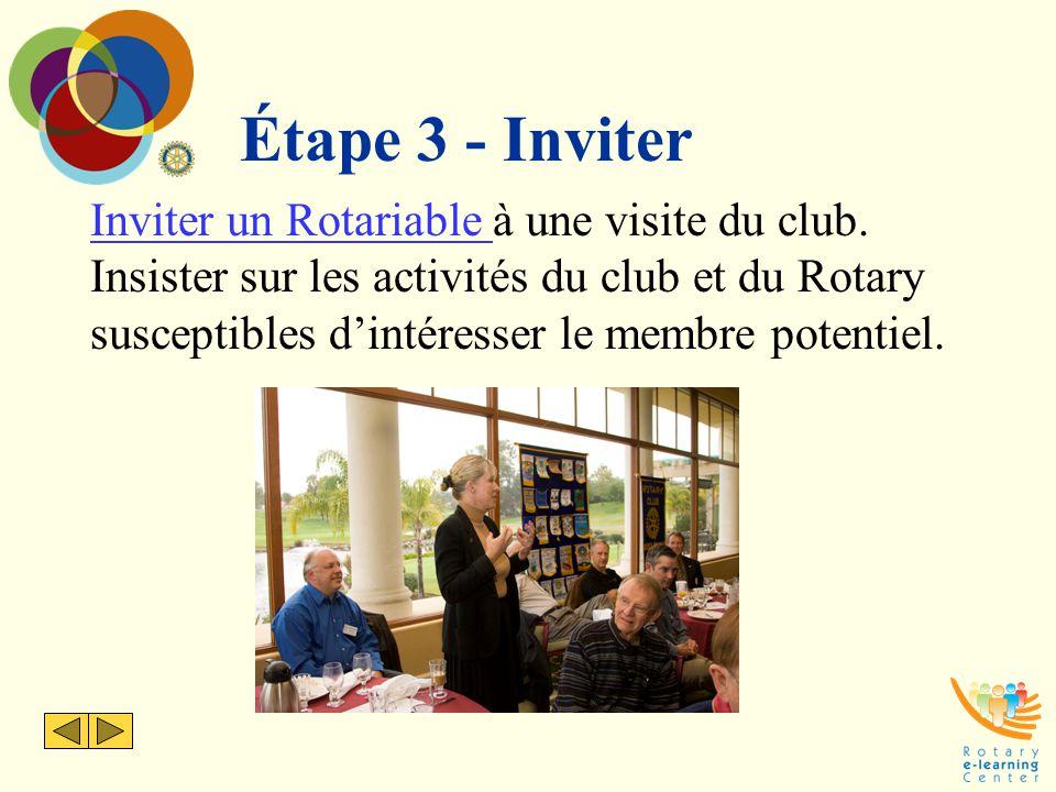 Étape 3 - Inviter