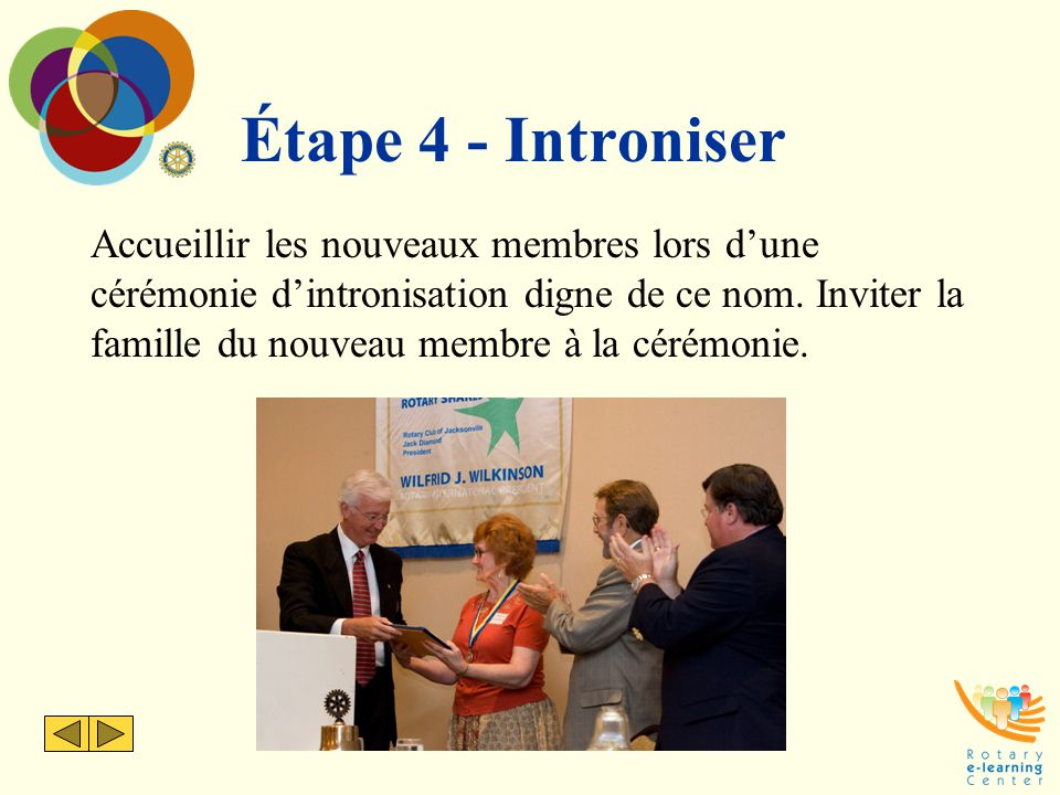 Étape 4 - Introniser