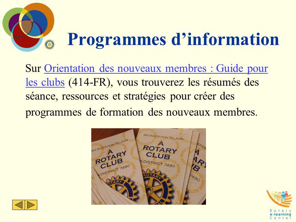 Programmes d'information