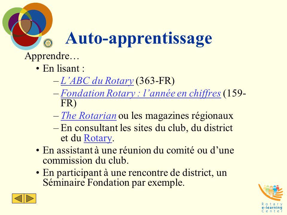 Auto-apprentissage Apprendre… En lisant : L'ABC du Rotary (363-FR)