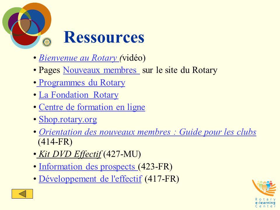 Ressources Bienvenue au Rotary (vidéo)