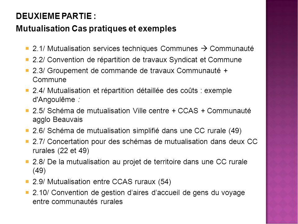 Mutualisation Cas pratiques et exemples