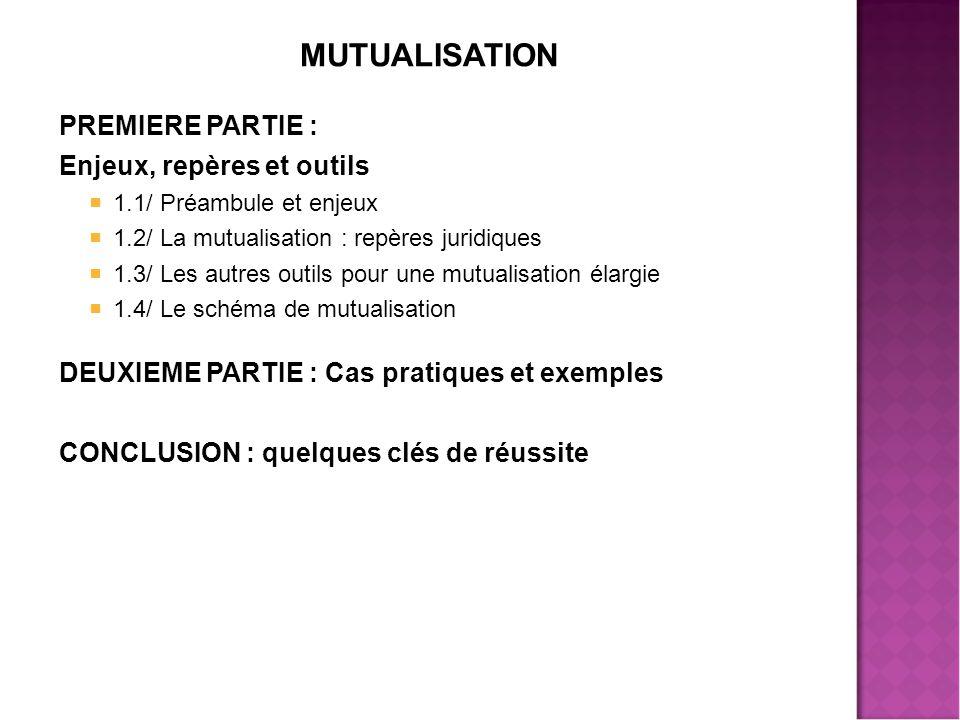 MUTUALISATION PREMIERE PARTIE : Enjeux, repères et outils